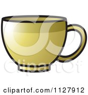 Clipart Of A Golden Cup Royalty Free Vector Illustration