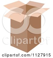 Open Tall Cardboard Box
