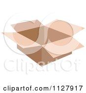 Open Small Cardboard Box