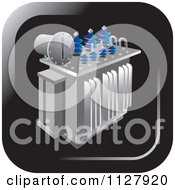 Clipart Of An Electrical Substation Transformer Icon Royalty Free Vector Illustration