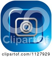 Clipart Of A Blue Photo Capture Icon Royalty Free Vector Illustration