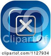 Clipart Of A Blue Close X Icon Royalty Free Vector Illustration