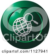 Clipart Of A Green Globe Search Icon Royalty Free Vector Illustration
