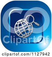 Clipart Of A Blue Globe Search Icon Royalty Free Vector Illustration
