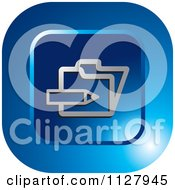 Clipart Of A Blue Enroll Icon Royalty Free Vector Illustration by Lal Perera