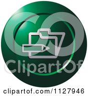 Clipart Of A Green Enroll Icon Royalty Free Vector Illustration by Lal Perera