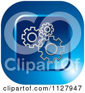 Clipart Of A Blue Gear Configure Settings Icon Royalty Free Vector Illustration by Lal Perera