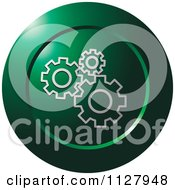 Clipart Of A Green Gear Configure Settings Icon Royalty Free Vector Illustration by Lal Perera