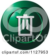 Clipart Of A Green Trash Can Icon Royalty Free Vector Illustration