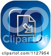 Clipart Of A Blue Import Document Icon Royalty Free Vector Illustration by Lal Perera