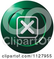 Clipart Of A Green Close X Icon Royalty Free Vector Illustration