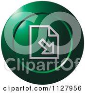 Clipart Of A Green Import Document Icon Royalty Free Vector Illustration by Lal Perera