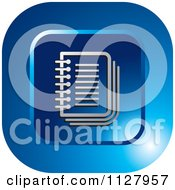 Clipart Of A Blue Organizer Icon Royalty Free Vector Illustration