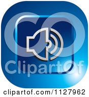 Clipart Of A Blue Audio Icon Royalty Free Vector Illustration by Lal Perera