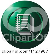 Clipart Of A Green Organizer Icon Royalty Free Vector Illustration
