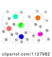 Clipart Of A Colorful Cluster Network 2 Royalty Free CGI Illustration