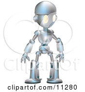 Friendly Futuristic Robot Clipart Illustration by AtStockIllustration