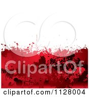 Clipart Of A Grungy Red Blood Splatter Horror Background Royalty Free Vector Illustration