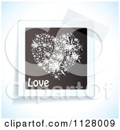 Clipart Of Tape Over A Love Diamond Heart Image Royalty Free Vector Illustration by michaeltravers