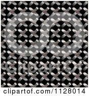 Clipart Of A Metal Grid Texture Background Royalty Free Vector Illustration