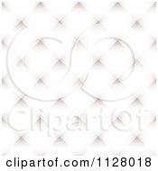 Clipart Of A White Diamond Pattern Background Royalty Free Vector Illustration by michaeltravers