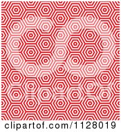 Seamless Red Hexagon Pattern Background