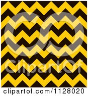 Clipart Of A Yellow And Black Chevron Warning Stripes Background Royalty Free Vector Illustration by michaeltravers