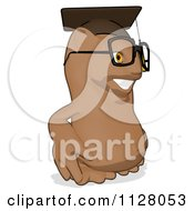 Cartoon Of A Professor Owl Wearing A Cap And Facing Right Royalty Free Clipart by Julos