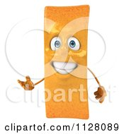 Clipart Of A 3d Frite French Fry Presenting Royalty Free CGI Illustration by Julos