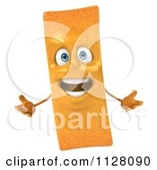 Clipart Of A 3d Frite French Fry Talking Royalty Free CGI Illustration by Julos