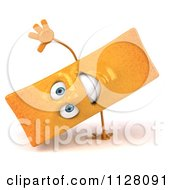 Clipart Of A 3d Frite French Fry Cartwheeling Royalty Free CGI Illustration by Julos