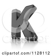 Clipart Of A 3d Perforated Metal Letter K Royalty Free CGI Illustration