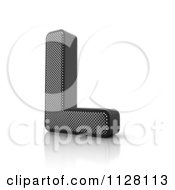 Clipart Of A 3d Perforated Metal Letter L Royalty Free CGI Illustration