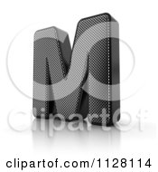 Clipart Of A 3d Perforated Metal Letter M Royalty Free CGI Illustration