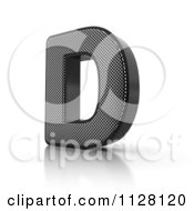 Clipart Of A 3d Perforated Metal Letter D Royalty Free CGI Illustration