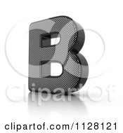 Clipart Of A 3d Perforated Metal Letter B Royalty Free CGI Illustration