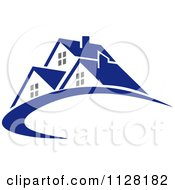 Clipart Of Houses With Roof Tops 5 Royalty Free Vector Illustration