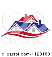 Clipart Of Houses With Roof Tops 6 Royalty Free Vector Illustration by Vector Tradition SM #COLLC1128183-0169