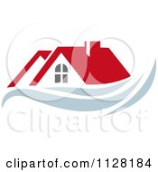 Clipart Of Houses With Roof Tops 7 Royalty Free Vector Illustration