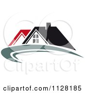 Clipart Of Houses With Roof Tops 8 Royalty Free Vector Illustration