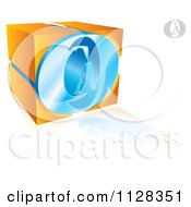 Clipart Of A 3d Orange And Blue CAO Logo Royalty Free Vector Illustration