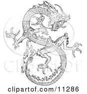 Chinese Dragon Clipart Illustration