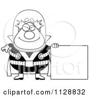 Cartoon Of A Black And White Evil Chubby Male Villain Vector Clipart by Cory Thoman