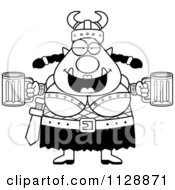 Black And White Chubby Ogre Woman With Beer