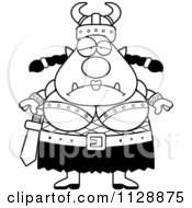 Cartoon Of A Black And White Chubby Depressed Ogre Woman Vector Clipart