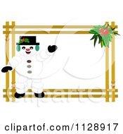 Christmas Snowman Frame