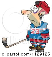 Royalty Free Hockey Puck Illustrations by Ron Leishman #1