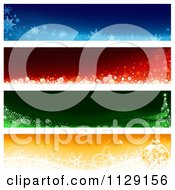 Clipart Of Christmas Website Banners 1 Royalty Free Vector Illustration by dero
