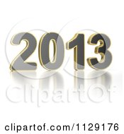 Clipart Of A 3d Year 2013 Royalty Free CGI Illustration