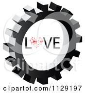 Clipart Of A Love Gear Cog Icon Royalty Free Vector Illustration by Andrei Marincas